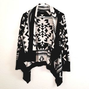 Wendy Bellissimo Tribal Open Front Cardigan